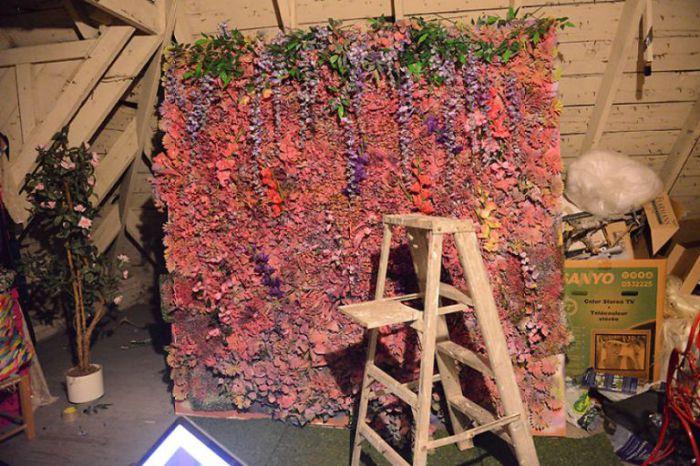 Цветочная стена. Фото Daniela Majic.