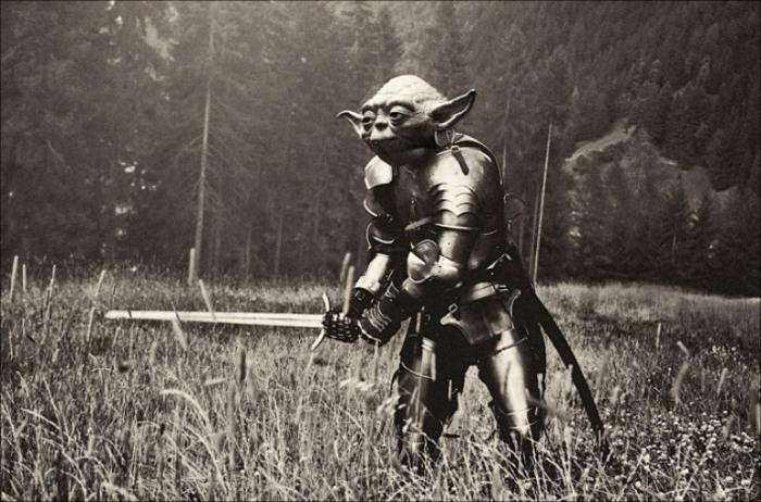 Средневековый рыцарь – учитель Йода. Фотоманипуляции от Данила Полевого (Danil Polevoy).