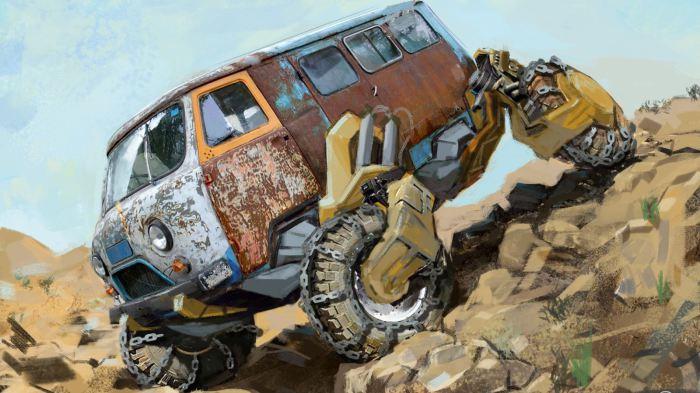 Казахский художник Данияр Кдыров превратил советские модели в машины постапокалипсиса.
