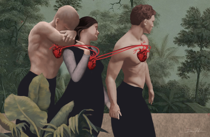 Любовный треугольник. Автор: Daria Petrilli.