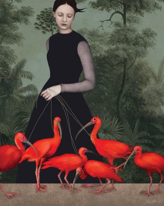 Красные птицы. Автор: Daria Petrilli.