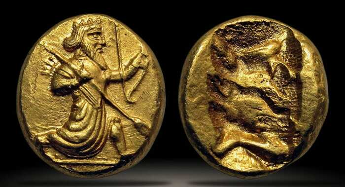 Золотая монета Дарик, империи Ахеменидов, 420-375 гг. до н. э. \ Фото: mdregion.ru.