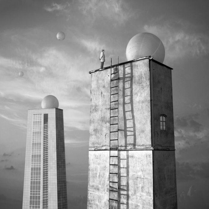 Шары на крыше. Автор: Dariusz Klimczak.