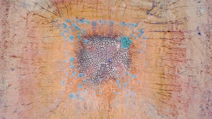 Жуткая красота австралийской засухи с высоты птичьего полёта. Автор: David Gray.