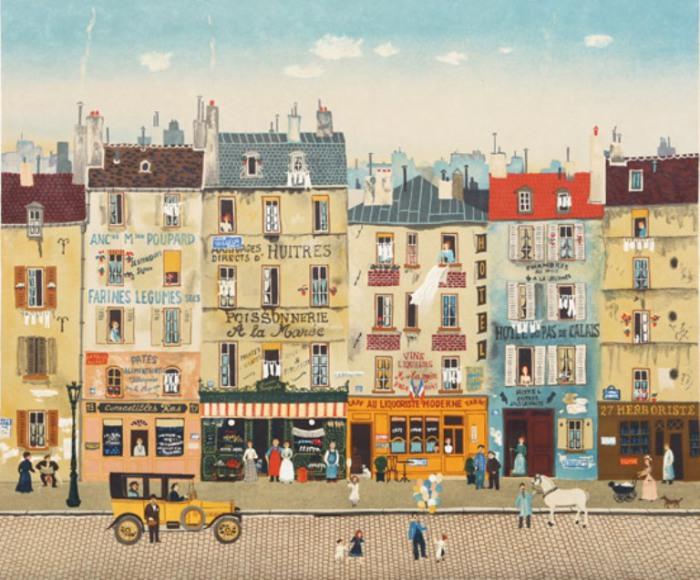Париж, уличная сцена. Автор: Michel Delacroix.