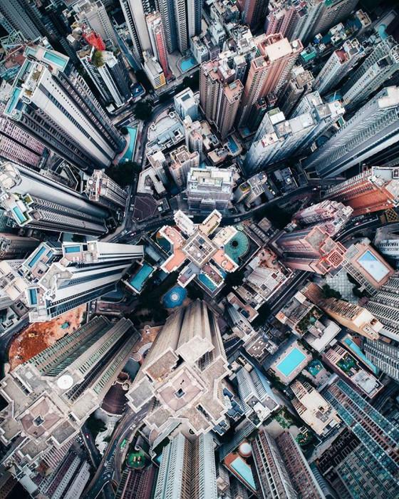 Город с высоты птичьего полёта. Автор: Demas Rusli.