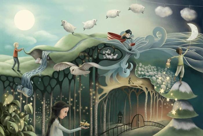 Душевные картины художницы-самоучки, которые переносят в добрые сказки
