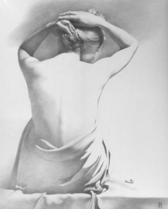 Модель Х. Нон-финито. Автор работ: украинский художник Денис Чернов (Denis Chernov).