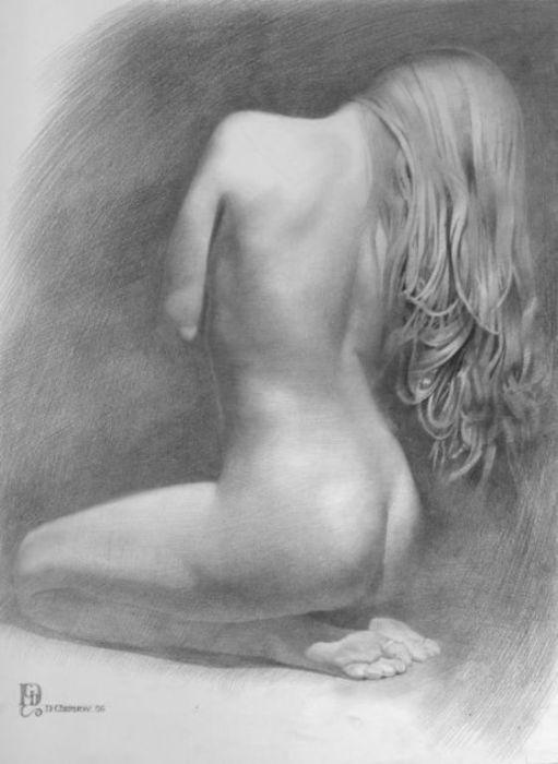 Модель XX. Автор работ: украинский художник Денис Чернов (Denis Chernov).
