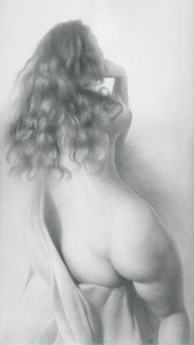Модель в драпировке II дубль. Автор работ: украинский художник Денис Чернов (Denis Chernov).