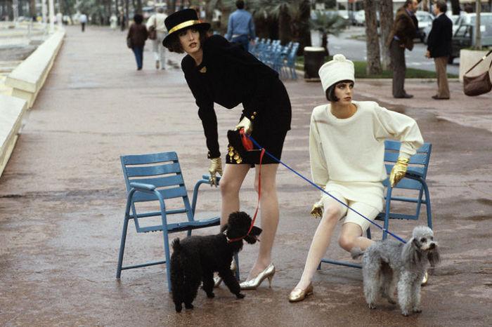 Татьяна Патиц, Летиция Фирмин-Дидо, Париж, 1986 год. Модная фотография Дениса Пила.
