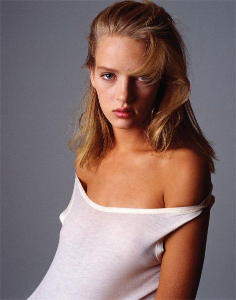 Ума Турман, Vogue, 1986 год. Автор: Denis Piel.