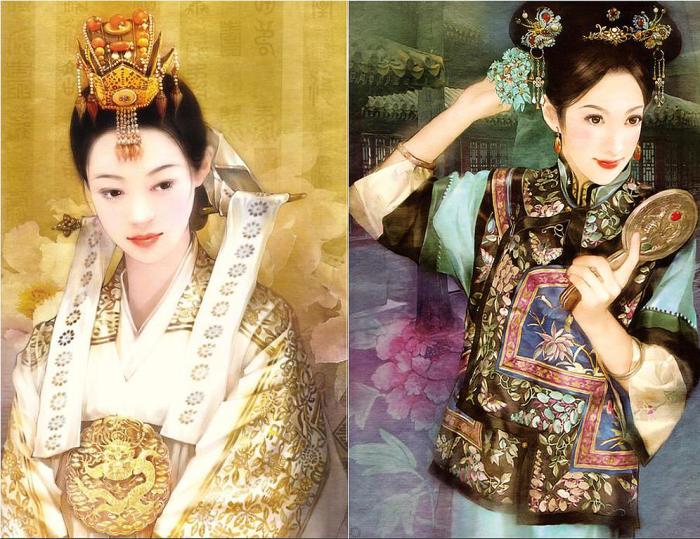 Изумительные и прекрасные китаянки в работах Дер Джен (Der Jen).