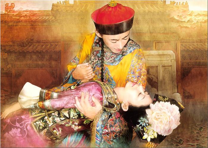 Китайская живопись. Утонченные портреты азиаток в работах Дер Джен (Der Jen).