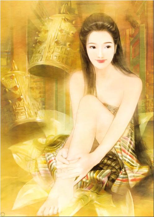 Утончённая красота китаянок в работах тайваньской художницы Дер Джен (Der Jen).