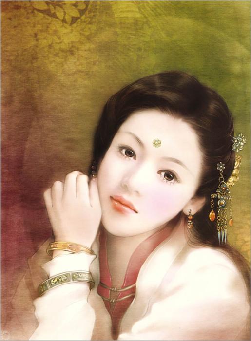 Утончённая красота азиатских девушек в работах тайваньской художницы Дер Джен (Der Jen).