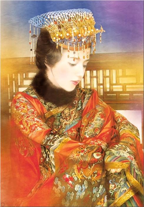 Великолепные портреты китаянок в работах тайваньской художницы Дер Джен (Der Jen).