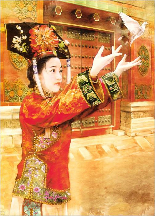Традиционный китайский стиль в работах тайваньской художницы Дер Джен (Der Jen).