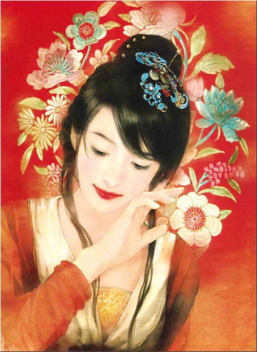Изящные портреты китаянок в работах тайваньской художницы Дер Джен (Der Jen).