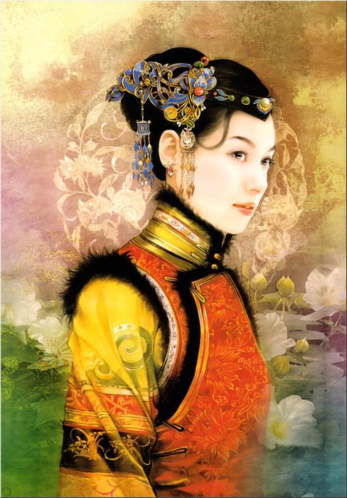 Роскошные портреты китаянок в работах тайваньской художницы Дер Джен (Der Jen).