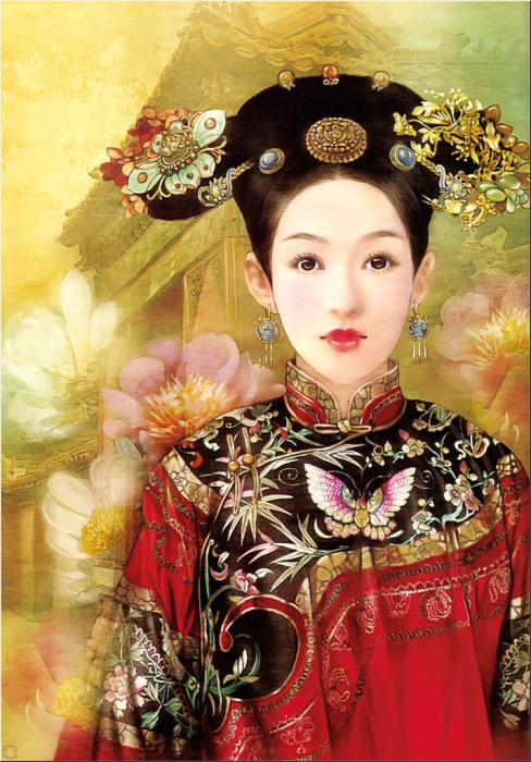 Утончённая натура китаянок в работах тайваньской художницы Дер Джен (Der Jen).