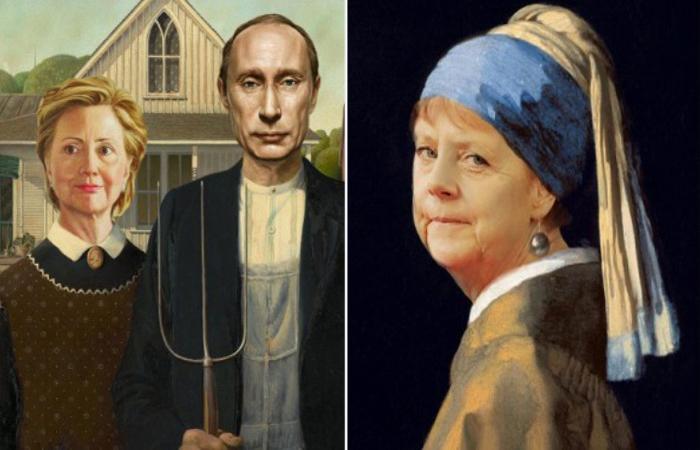 Политики в роли героев классических портретов. Автор: Designcrowd.