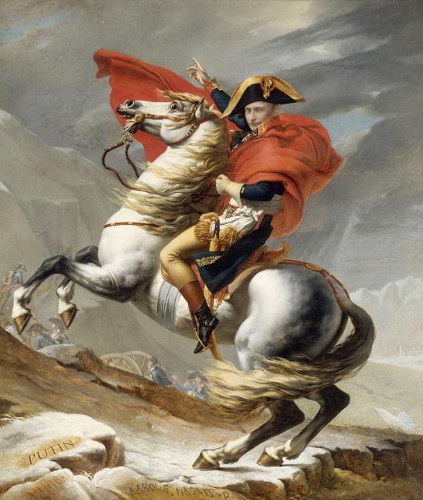 Наполеон на перевале Сен-Бернар. Автор: Designcrowd.
