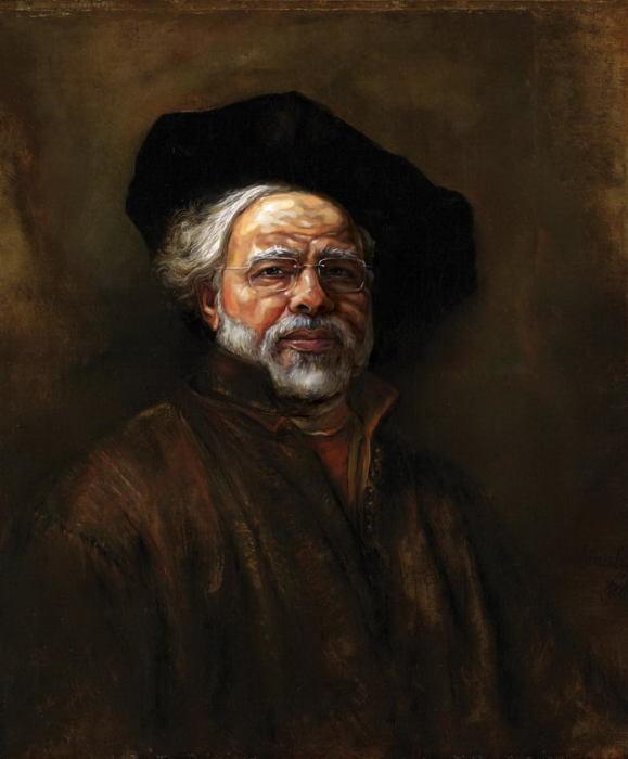 Нарендра Моди в и сполнении Рембрандта. Автор: dinug.312.