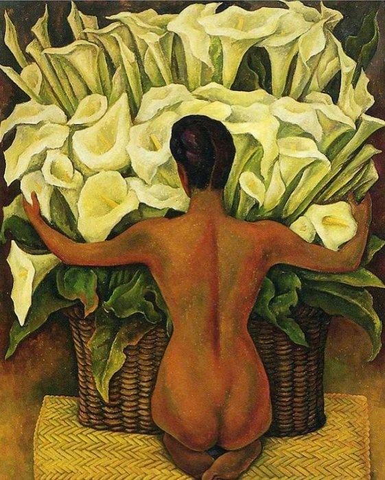 Обнажённая с лилиями. Автор: Диего Ривера. \ Фото: papacodes.com.
