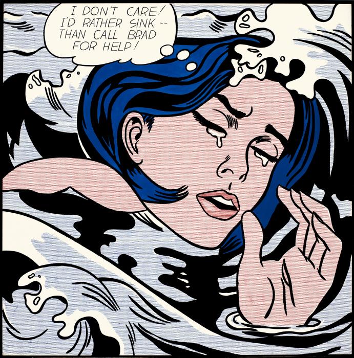 «Мне все равно! Я скорее утону, чем позову Брэда на помощь!» — сокрушается Лихтенштейнская утопленница 1963 года. \ Фото: google.com.