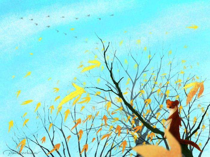 Октябрь, конец месяца. Авторские  работы Дмитрия Резчикова (Dim Rezchikov).