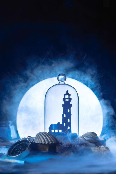 Маяк в лунном свете. Автор: Дина Беленко.