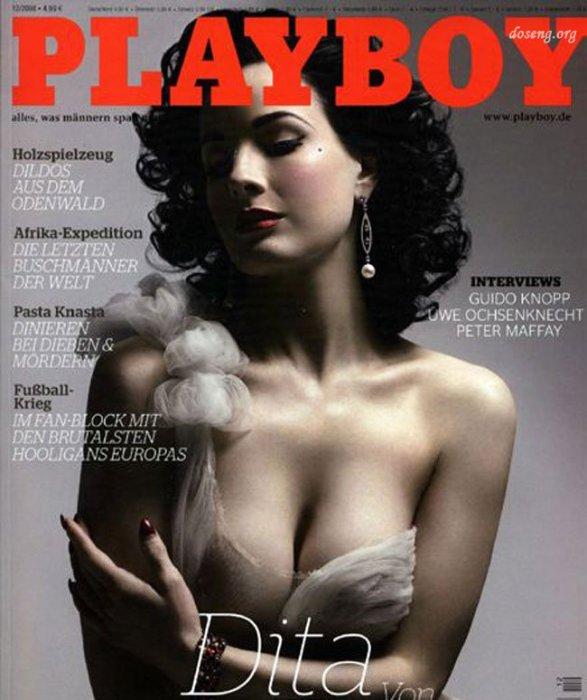 Dita Von Teese издание Playboy.