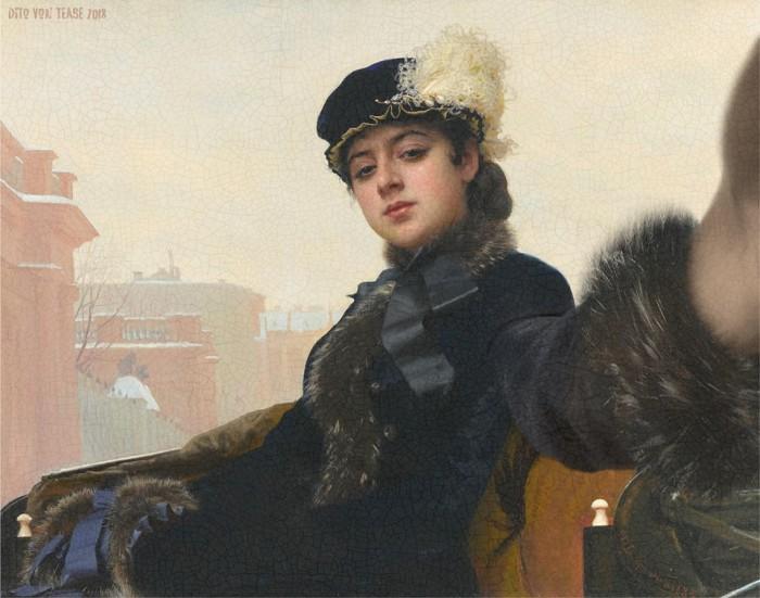 Портрет неизвестной женщины. Художник: Иван Крамской, 1883 год. Автор: Dito Von Tease.