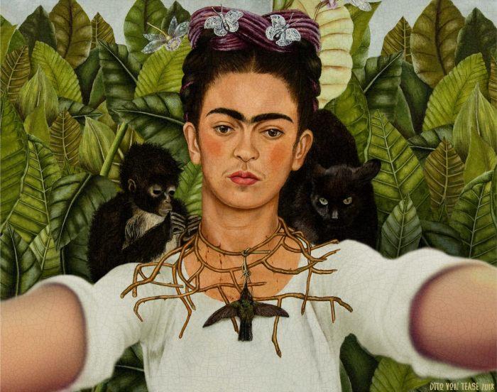 Автопортрет Фрида Кало, 1940 год. Автор: Dito Von Tease.