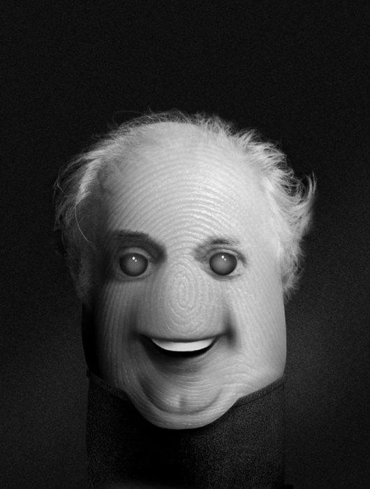 Портреты на пальцах: Dario Fo. Автор: Dito Von Tease.