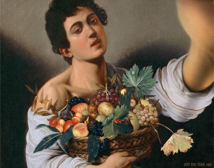 Мальчик с в фруктов. Художник: Караваджо, 1593 год. Автор: Dito Von Tease.