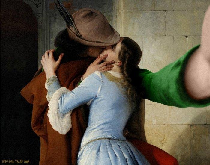 Поцелуй. Художник:  Франческо Хайес, 1859 год. Автор: Dito Von Tease.