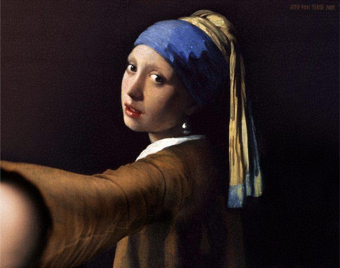 Девушка с жемчужной серёжкой. Художник: Ян Вермеер, 1665 год. Автор: Dito Von Tease.