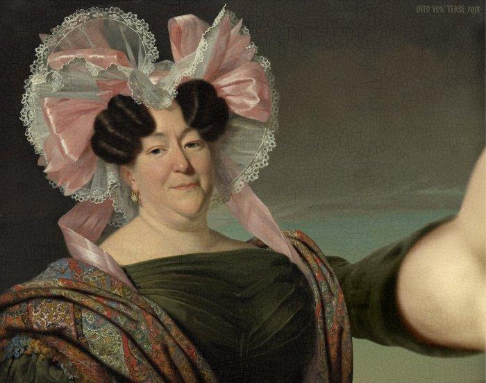Портрет неизвестной женщины. Художник: Ян Адам Круземан, 1829 год. Автор: Dito Von Tease.