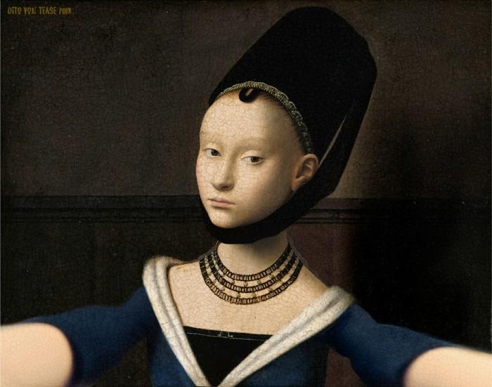 Портрет молодой девушки. Художник: Петруса Кристуса, 1470 год.