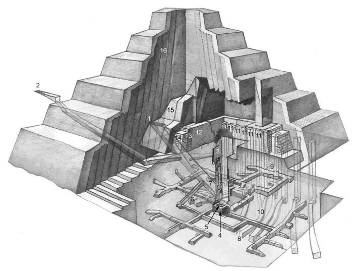 План пирамиды Джосера. \ Фото: ppfocus.com.