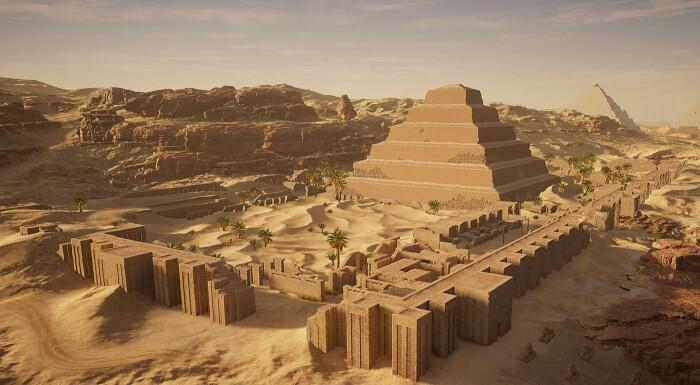 Цифровая реконструкция Саккары из игры Assassins Creed. \ Фото: twitter.com.