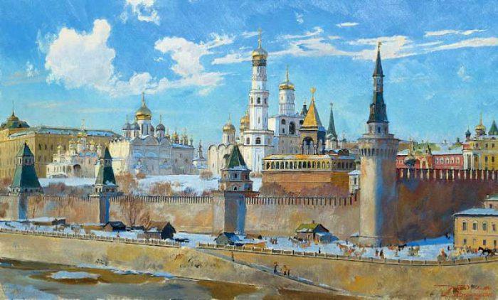 Исторические и жанровые композиции московского художника Дмитрия Белюкина.