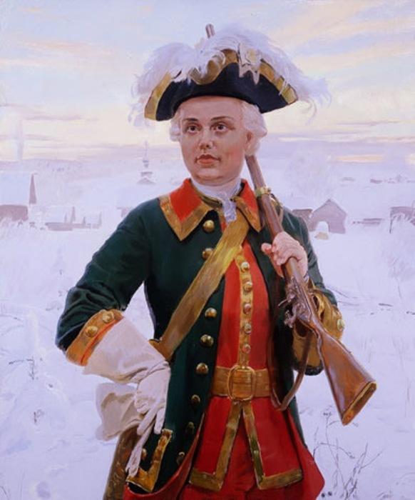 Портрет Елизаветы Петровны на охоте. Автор: Дмитрий Белюкин.