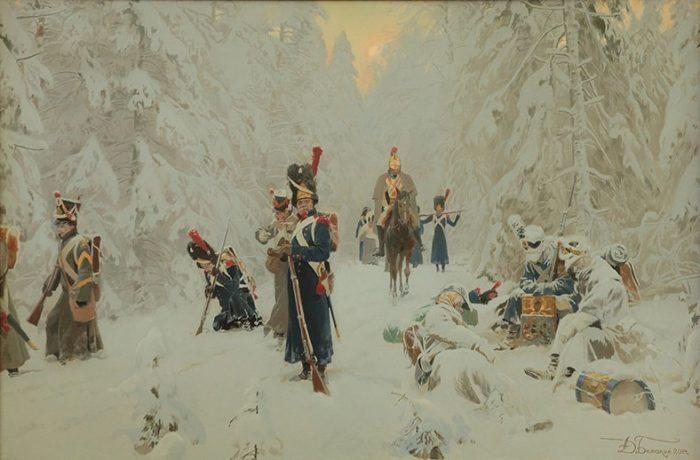 Гибель Императорской гвардии, (Отечественная война 1812 года). Автор: Дмитрий Белюкин.