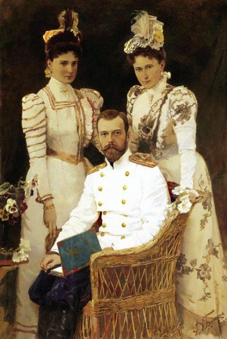 Государь император Николай II с семьёй. Автор: Дмитрий Белюкин.
