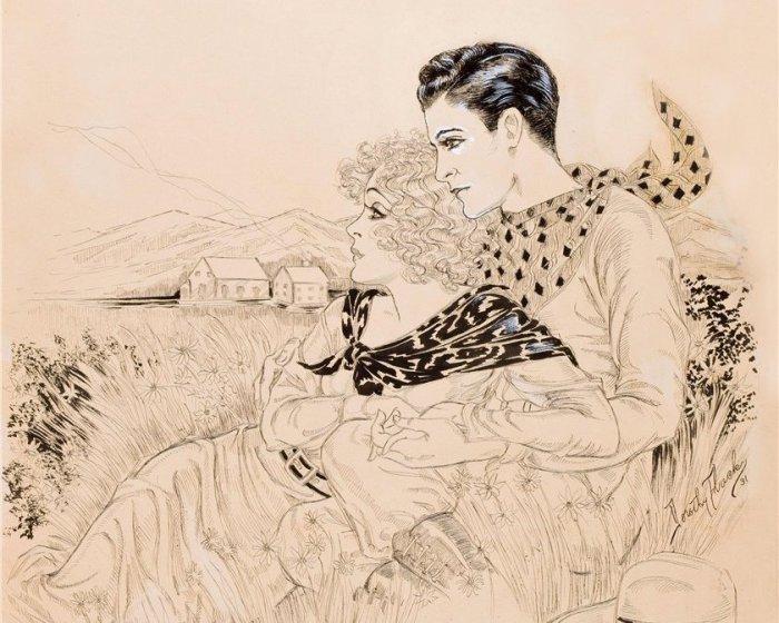 Романтические ретро-иллюстрации. Автор: Дороти Флэк (Dorothy Flack).