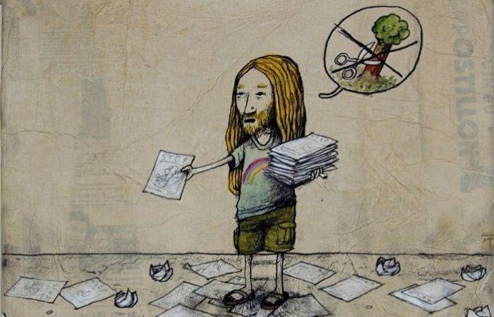 Возьмите листовку. Автор: Dran.