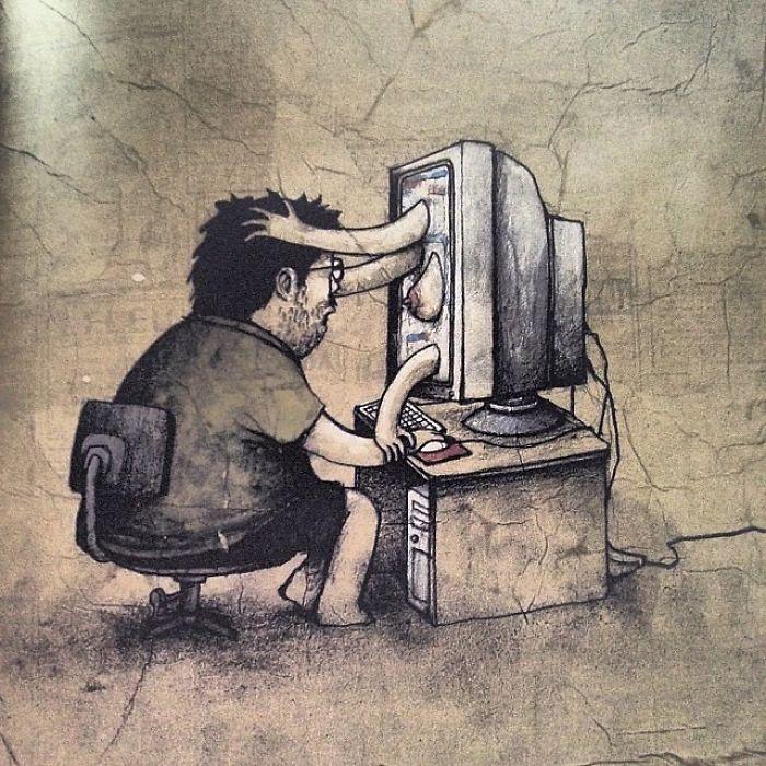 Виртуальная любовь. Автор: Dran.